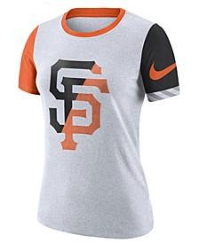 Women's San Francisco Giants Slub Logo Crew T-Shirt