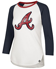 '47 Brand Women's Atlanta Braves Splitter Raglan T-Shirt
