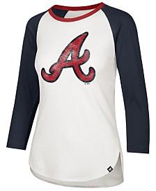 '47 Brand Women's Atlanta Braves Splitter Raglan T-Shirt