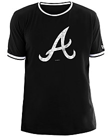 New Era Men's Atlanta Braves Ringer Crew Top