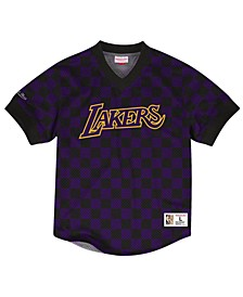 Men's Los Angeles Lakers Kicking It Wordmark Mesh T-Shirt