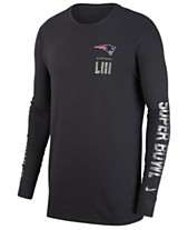 4800e27ae Nike Men s New England Patriots Super Bowl LIII Media Night Opening Dri-FIT  Long Sleeve