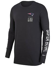 Nike Men's New England Patriots Super Bowl LIII Media Night Opening Dri-FIT Long Sleeve T-Shirt