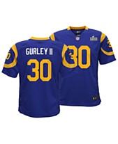 Nike Big Boys Todd Gurley Los Angeles Rams Super Bowl LIII Patch Jersey f13fead2b