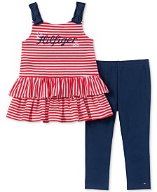 Tommy Hilfiger Baby Girls 2-Pc. Ruffle-Hem Tunic & Leggings Set