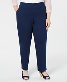 Alfred Dunner Plus Size Cote D'Azur Pull-On Pants
