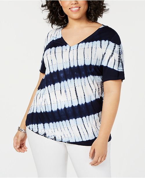 510c6147a04 ... INC International Concepts I.N.C. Plus Size Tie-Dye T-Shirt
