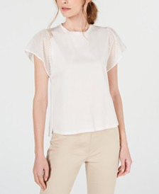 Weekend Max Mara Cerchio Cotton Eyelet Top