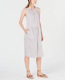 Weekend Max Mara Salute Linen & Silk Striped Dress