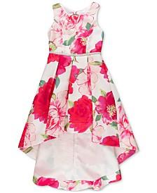 Speechless Big Girls Plus Floral-Print High-Low Hem Dress