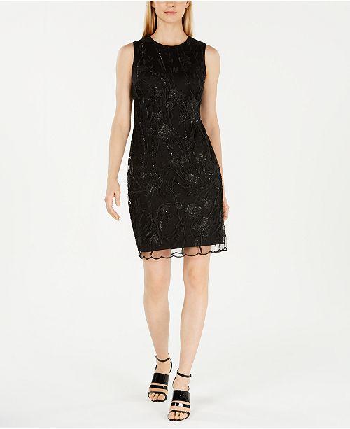 7111d131 Calvin Klein Embroidered Sequin Sheath Dress & Reviews - Dresses ...