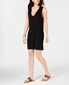 Miken Sleeveless Hoodie Swim Cover-Up