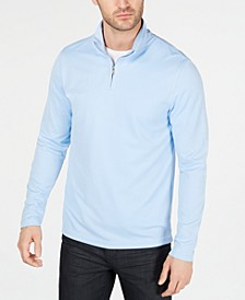 Men's Textured Quarter-Zip Sweater, Created for Macy's