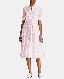 Lauren Ralph Lauren Belted Cotton Shirtdress