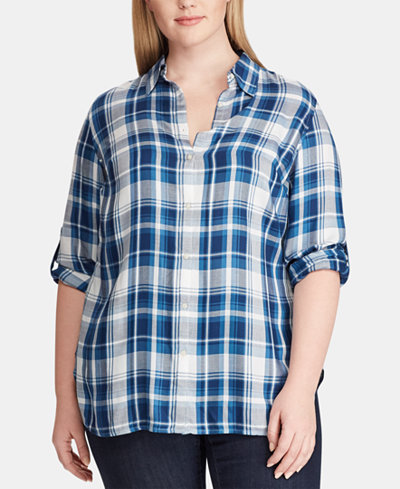 Lauren Ralph Lauren Plus Size Button-Down Shirt
