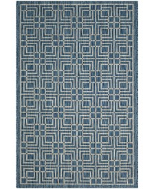 "Safavieh Courtyard Navy and Gray 2' x 3'7"" Area Rug"