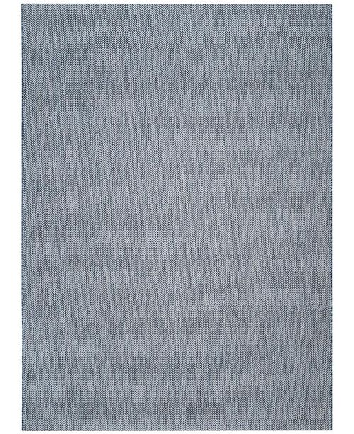 Safavieh Courtyard Navy and Gray 9' x 12' Sisal Weave Area Rug
