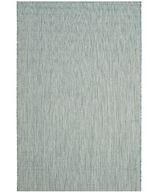 "Safavieh Courtyard Aqua and Gray 4' x 5'7"" Sisal Weave Area Rug"