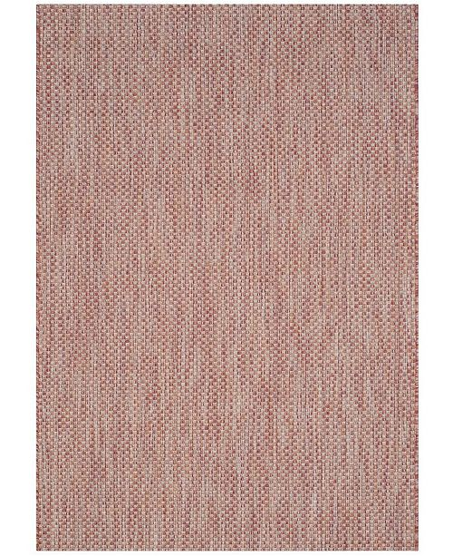 "Safavieh Courtyard Red and Beige 4' x 5'7"" Sisal Weave Area Rug"