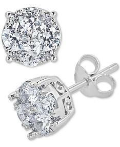 1 Carat Diamond Earrings: Shop 1 Carat Diamond Earrings - Macy's