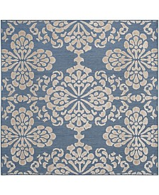 "Safavieh Cottage Light Blue and Beige 6'7"" x 6'7"" Square Area Rug"