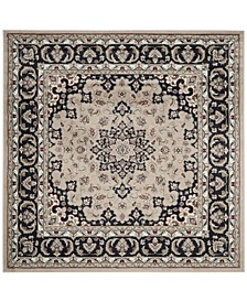 Lyndhurst Cream and Anthracite 7' x 7' Square Area Rug