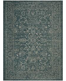 Courtyard Turquoise 8' x 11' Sisal Weave Area Rug