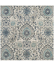 "Safavieh Madison Cream and Light Gray 6'7"" x 6'7"" Square Area Rug"