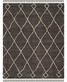 Safavieh Moroccan Fringe Shag Gray and Cream 8' X 10' Area Rug