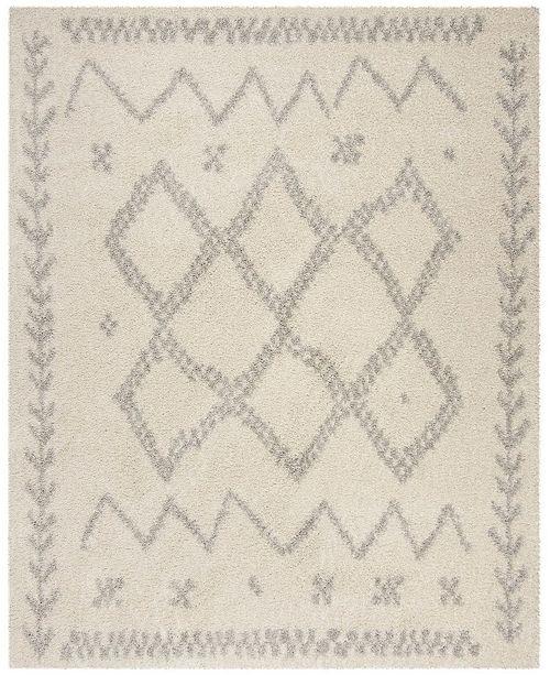 Safavieh Arizona Shag Ivory and Gray 8' x 10' Area Rug