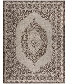 "Safavieh Courtyard Light Beige and Light Brown 6'7"" x 6'7"" Sisal Weave Square Area Rug"