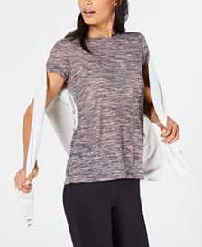 Ideology Space-Dyed Keyhole-Back Top, Created for Macy's