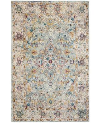 Aria Beige and Blue 9' x 12' Area Rug