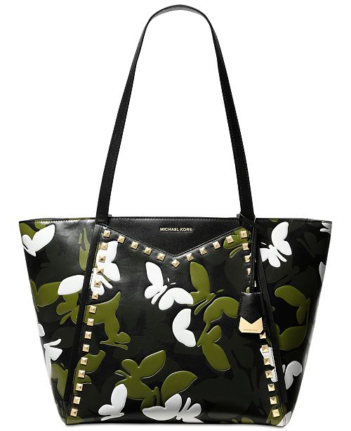 8a3751f46f44 Michael Kors Whitney Camo Butterfly Tote & Reviews - Handbags ...