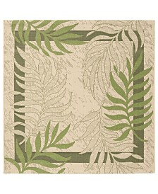 """Safavieh Courtyard Cream and Green 5'3"""" x 5'3"""" Square Area Rug"""