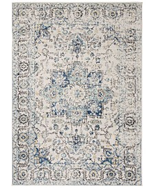 """Madison Turquoise and Ivory 2'3"""" x 6' Runner Area Rug"""