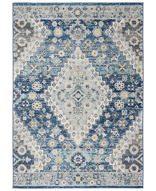 Safavieh Madison Navy and Creme 4' x 6' Area Rug