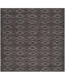 "Safavieh Courtyard Black 5'3"" x 5'3"" Sisal Weave Square Area Rug"