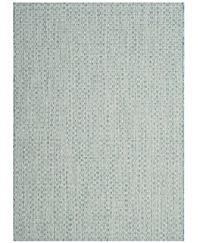 "Safavieh Courtyard Light Blue and Light Gray 5'3"" x 5'3"" Sisal Weave Square Area Rug"