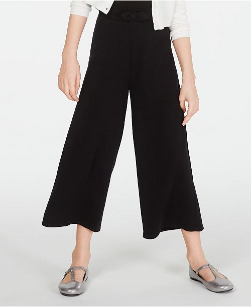 Epic Threads Big Girls Tie-Front Culottes, Created for Macy's
