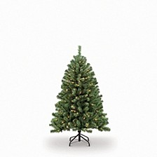 International 4.5 ft.Pre-Lit Noble Fir Artificial Christmas Tree with 250 Clear UL listed Lights