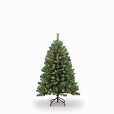 Puleo International 4.5 ft.Pre-Lit Noble Fir Artificial Christmas Tree with 250 Clear UL listed Lights