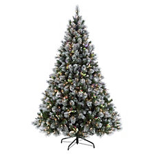 Puleo International 4.5 ft Pre-Lit Premium Winter Wonderland Artificial Christmas Tree with 250 UL-Listed Clear Lights