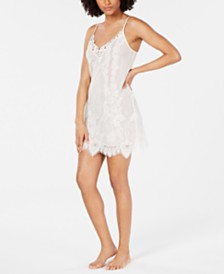 I.N.C. Ivory Lace Chemise Nightgown, Created for Macy's