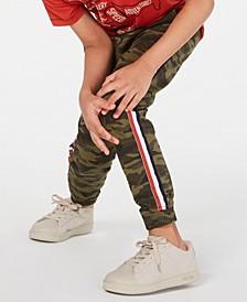 Little Boys Camo-Print Jogger Pants, Created for Macy's