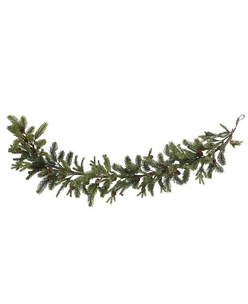 "Nearly Natural 60"" Pine and Pinecone Garland"