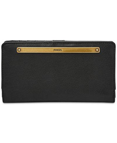 Fossil Liza Bi-Fold Leather Wallet