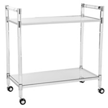 Duval Acrylic Bar Trolley, Quick Ship