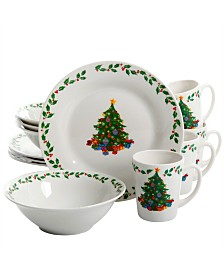 Joyous Gathering Decorated Dinnerware, Set of 12