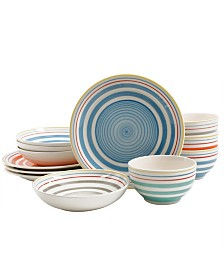 Moody Blues 12 Piece Double Bowl Dinnerware Set